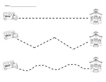 School Bus Tracing Lines