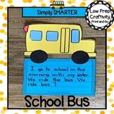 School Bus Writing Cut and Paste Craftivity