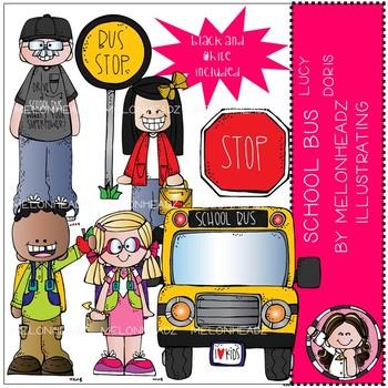School Bus clip art - Lucy Doris - Mini - by Melonheadz