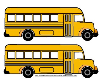 School Buses for Bulletin Board