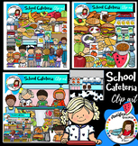 School Cafeteria Clip Art- Big set of 116 images!