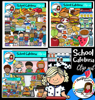 school cafeteria clip art big set of 116 images by artifex tpt rh teacherspayteachers com Cafeteria Clip Art Cafeteria Lunch Clip Art