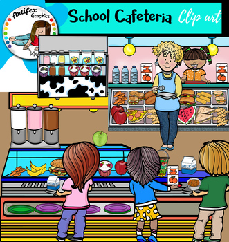 school cafeteria clip art big set of 116 images by artifex tpt rh teacherspayteachers com Cafeteria Worker Clip Art From the Cafeteria