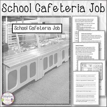 School Cafeteria Job Information and Tasks