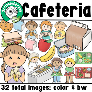 School Cafeteria Lunch ClipArt