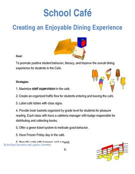 School Cafeteria Management Plan