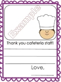 School Cafeteria Worker Appreciation - staff thank you car