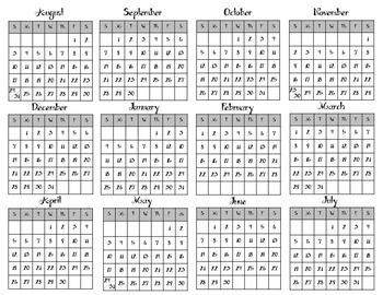 Teacher Binder School Calendar