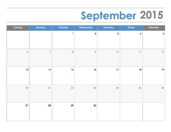 School Calendar 15-16