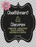 School Calendar Labels - Fun Chalkboard and Chevron Theme!