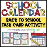 School Calendar Task Cards