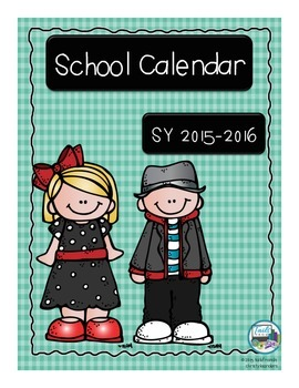 School Calendar for School Year 2015-2016