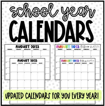 School Calendars 2018-2019