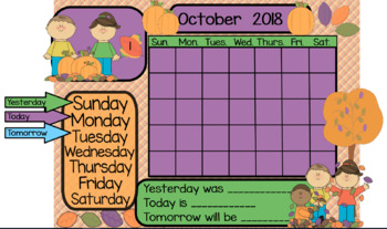 School Calendars for ActivInspire