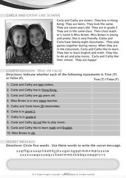 School - Carla and Cathy Like School - Grade 2
