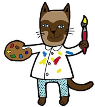 School Cats 2 Clip Art