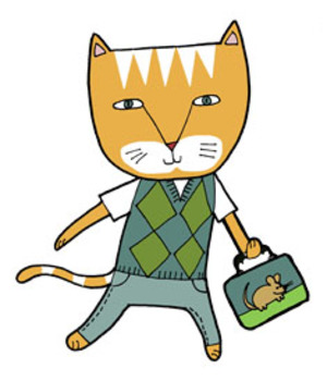 School Cats FREE Clip Art