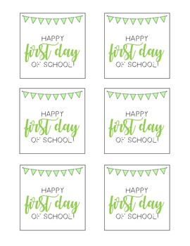 School Celebration Gift Labels/Tags