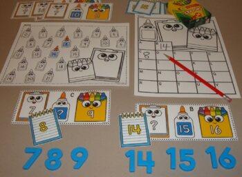 School Centers Number Games Math Centers School Activities