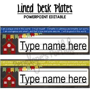 Desk Plates / Name Plates - School Chalkboard Theme
