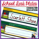Desk Plates / Name Plates - Character Education & School C