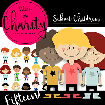 School Children Clip Art {Commercial Use Allowed for Teachers!}