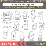 School Children Clip Art, Multi-Cultural Kids, Students, C