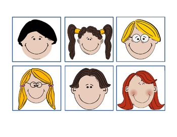 School Children Faces Happy Bulletin Board Idea 30 Different Faces 5 Pages