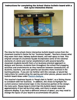 School Choice Bulletin Board Fishing and Rock Cycle Interactive Design