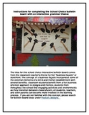School Choice Theme Bulletin Board with Grammar Activity