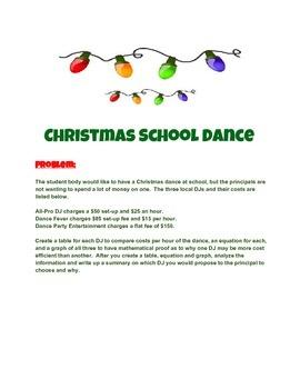 School Christmas Dance Problem