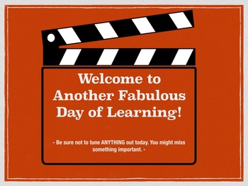 School Projection Video for Classroom or Hallway I