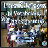 Classes and Courses Vocabulary Thematic Reference - Las clases de la escuela