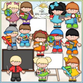 School Classroom Clip Art - Back to School Clip Art - CU Clip Art & B&W