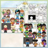 School Classroom Clip Art - Back to School Clip Art - CU C