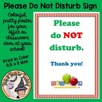 Please Do Not Disturb School Classroom Door Do Not Disturb Sign Poster