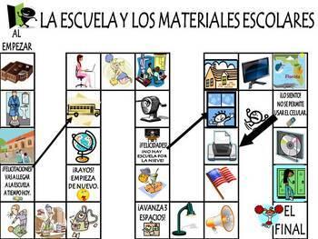School & Classroom Objects Vocabulary Activities & Games Unit/Spanish