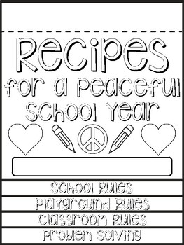 Back to School Classroom Rules Flip Book
