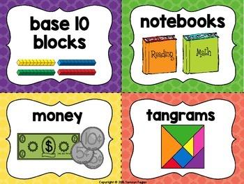 School / Classroom Supply Labels