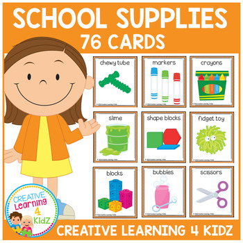 School Classroom Supply & Sensory Item Cards
