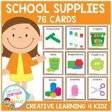 School Classroom Supply & Sensory Item Cards