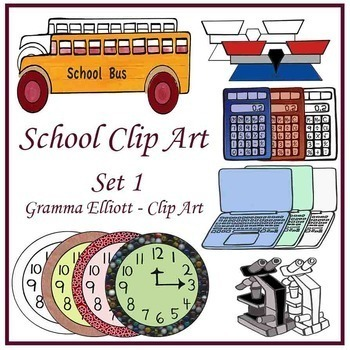 School Clip Art Bundle