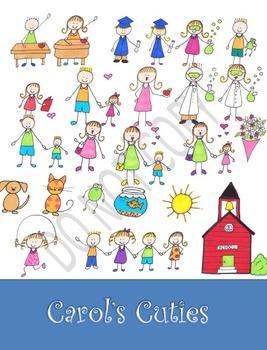 School Clip Art - Color Kids Collection