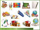 School Clip Art / Digital Clipart School Supply Images