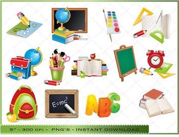20 % OFF SALE Back to school Digital Clipart, School Images, Classroom  decoratio... #classroom #Clipart #decoratio #Di… in 2020 | School images, Digital  clip art, Clip art