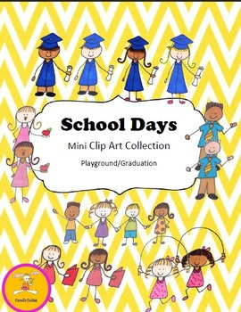 School Clip Art - Playground/Graduation Clip Art Collection