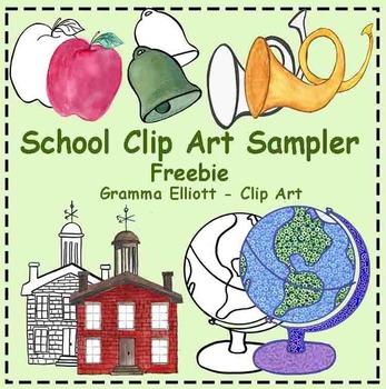 School Clip Art Sampler Freebie