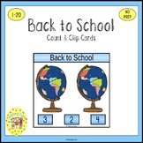 Back to School Clip Task Cards