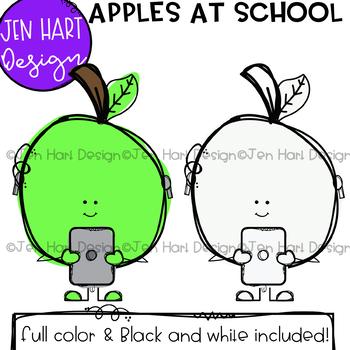 School Clipart - Apples at School {Jen Hart Clip Art}