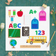 School Clipart, Back to School Clip Art, Classroom Clipart, Backpack, School Bus